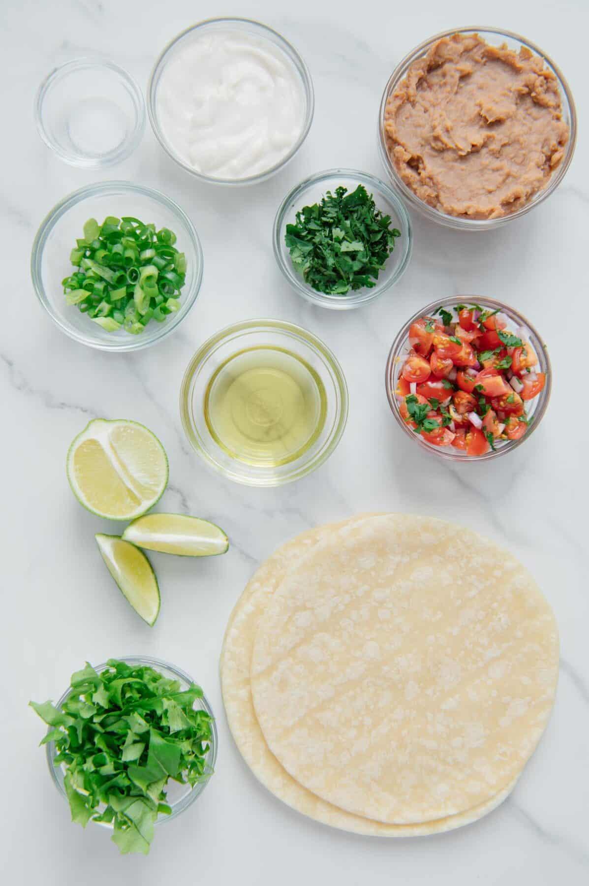 Vegan Tostada Ingredients