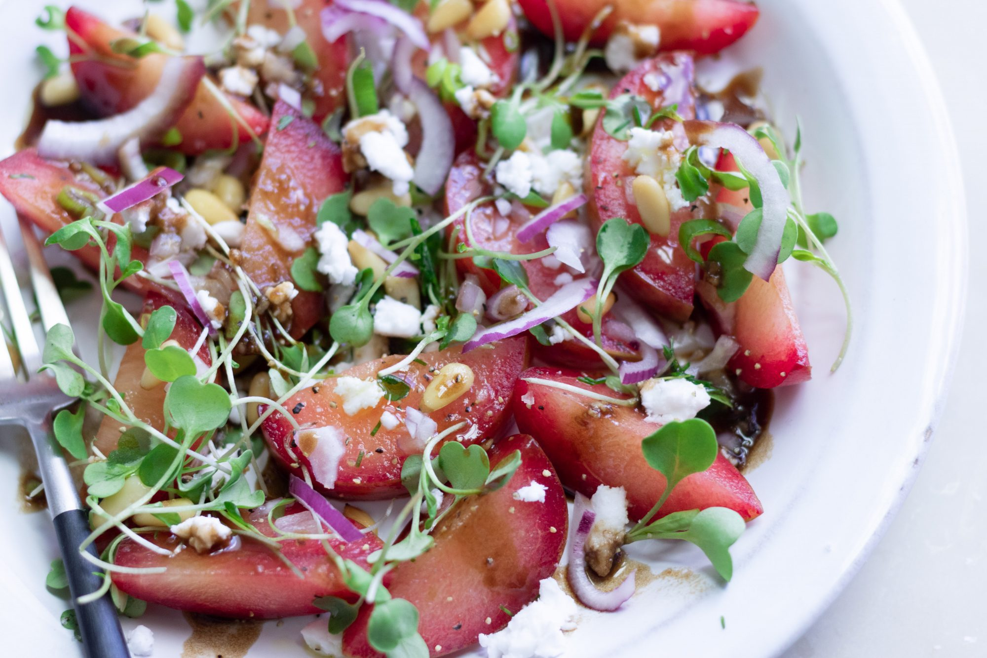 Plumcot Salad Recipe
