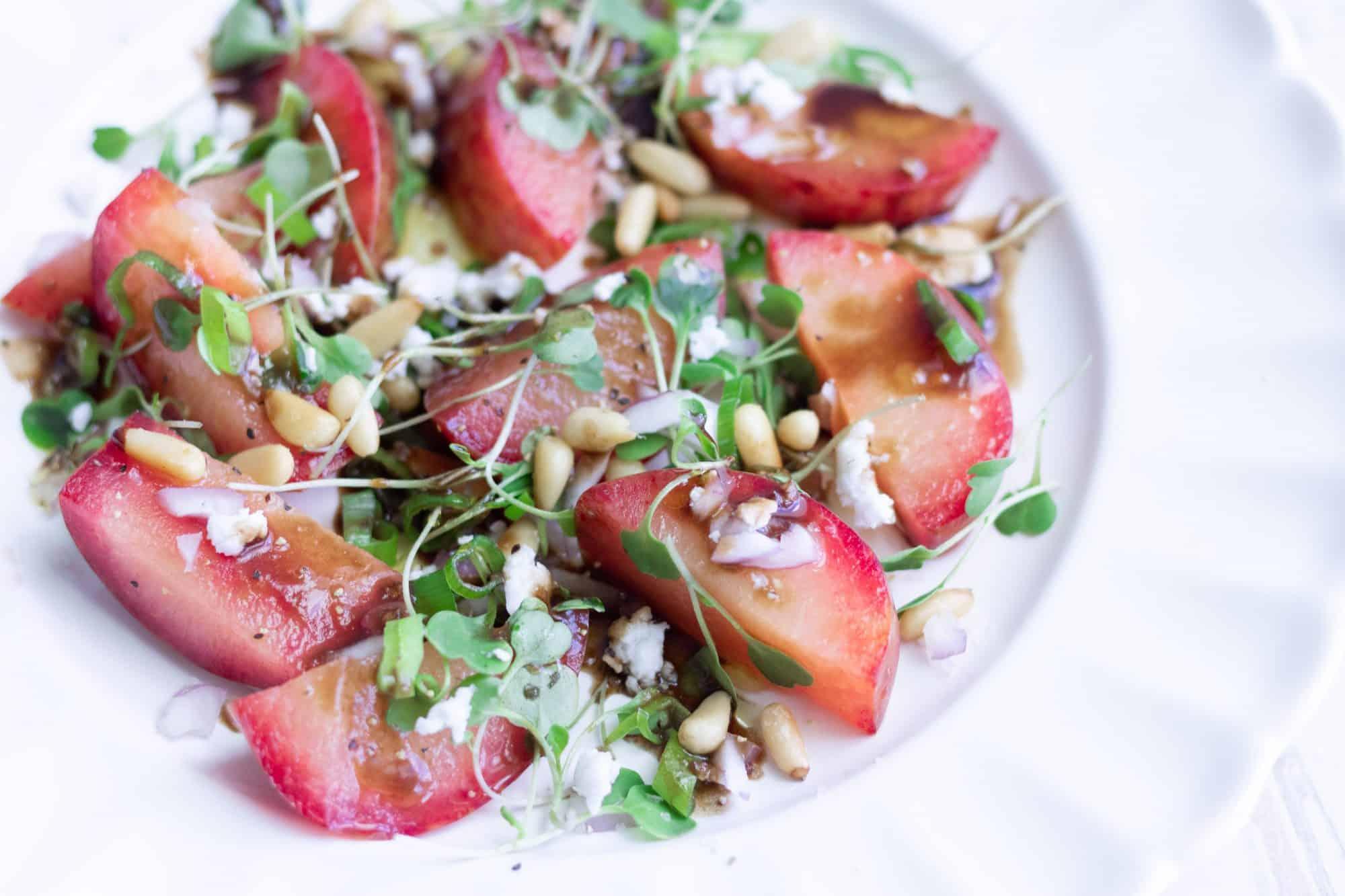 Gluten-Free Plumcot Salad