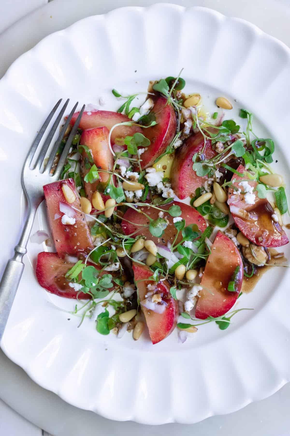 Vegan Plumcot Salad