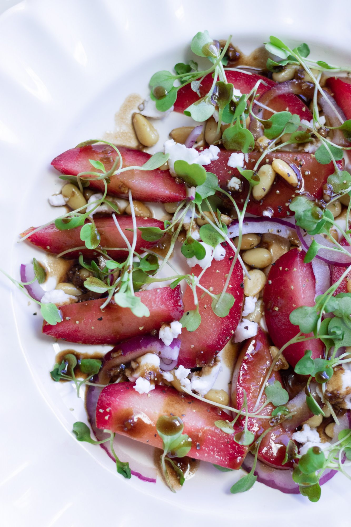 Fresh Plumcot Salad