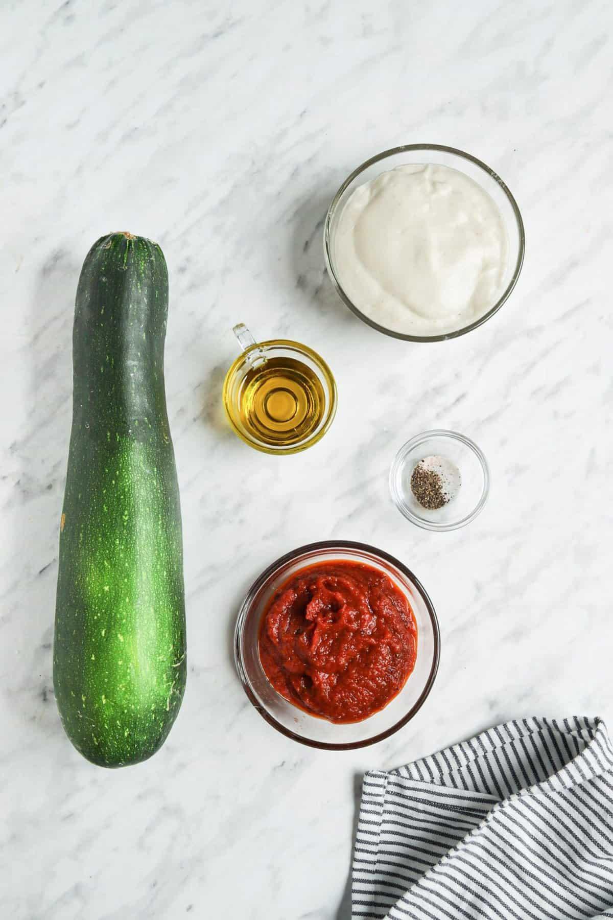Zucchini Pizza Bites Ingredients