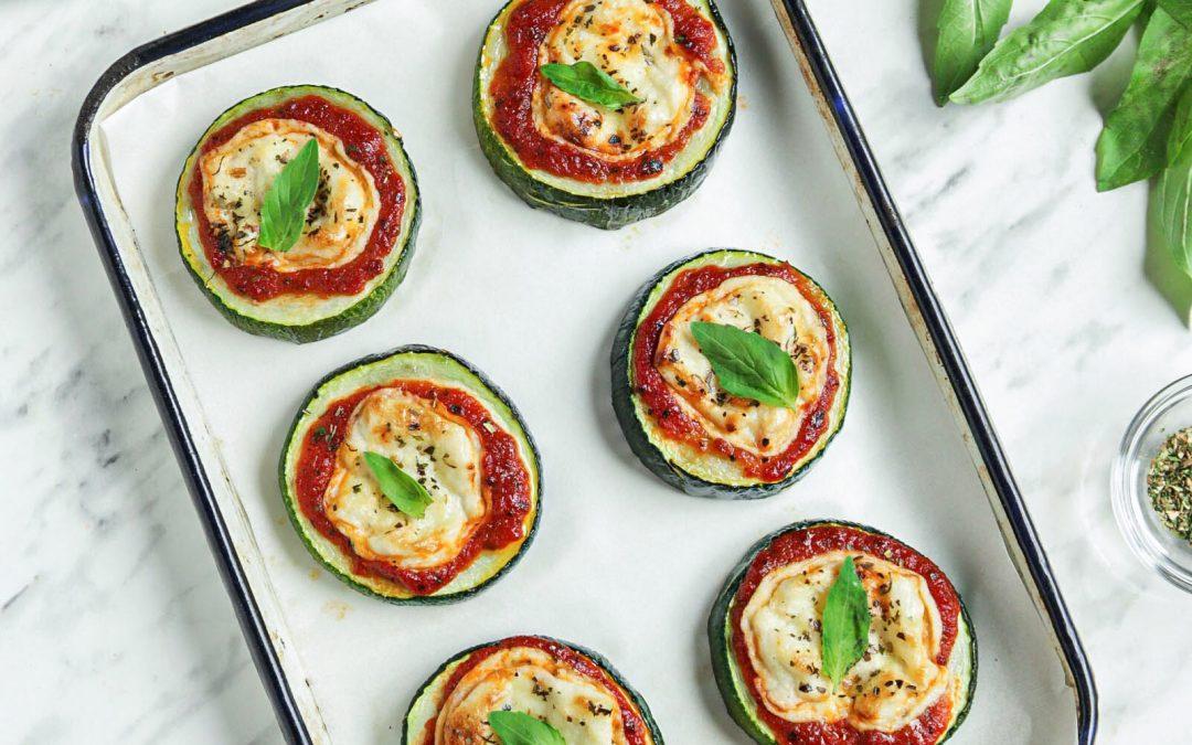 Easy Vegan Zucchini Pizza Bites (paleo)