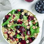 Spinach Quinoa Salad with Beets