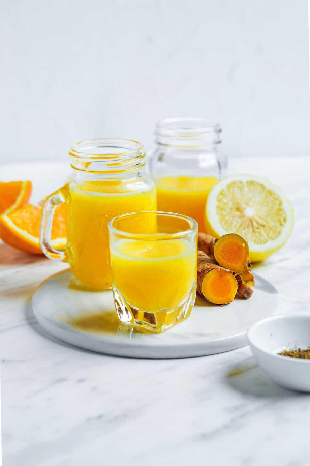 Orange Ginger Immune Drink