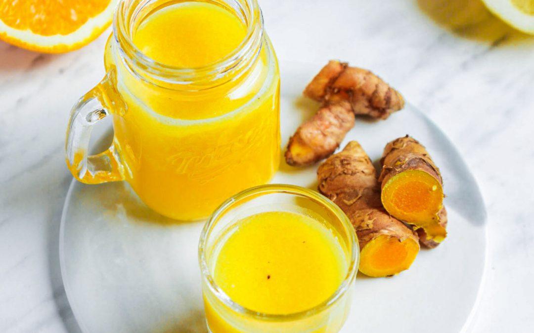 Easy Blender Turmeric Ginger Immune Boosting Wellness Drink (that actually tastes good!)