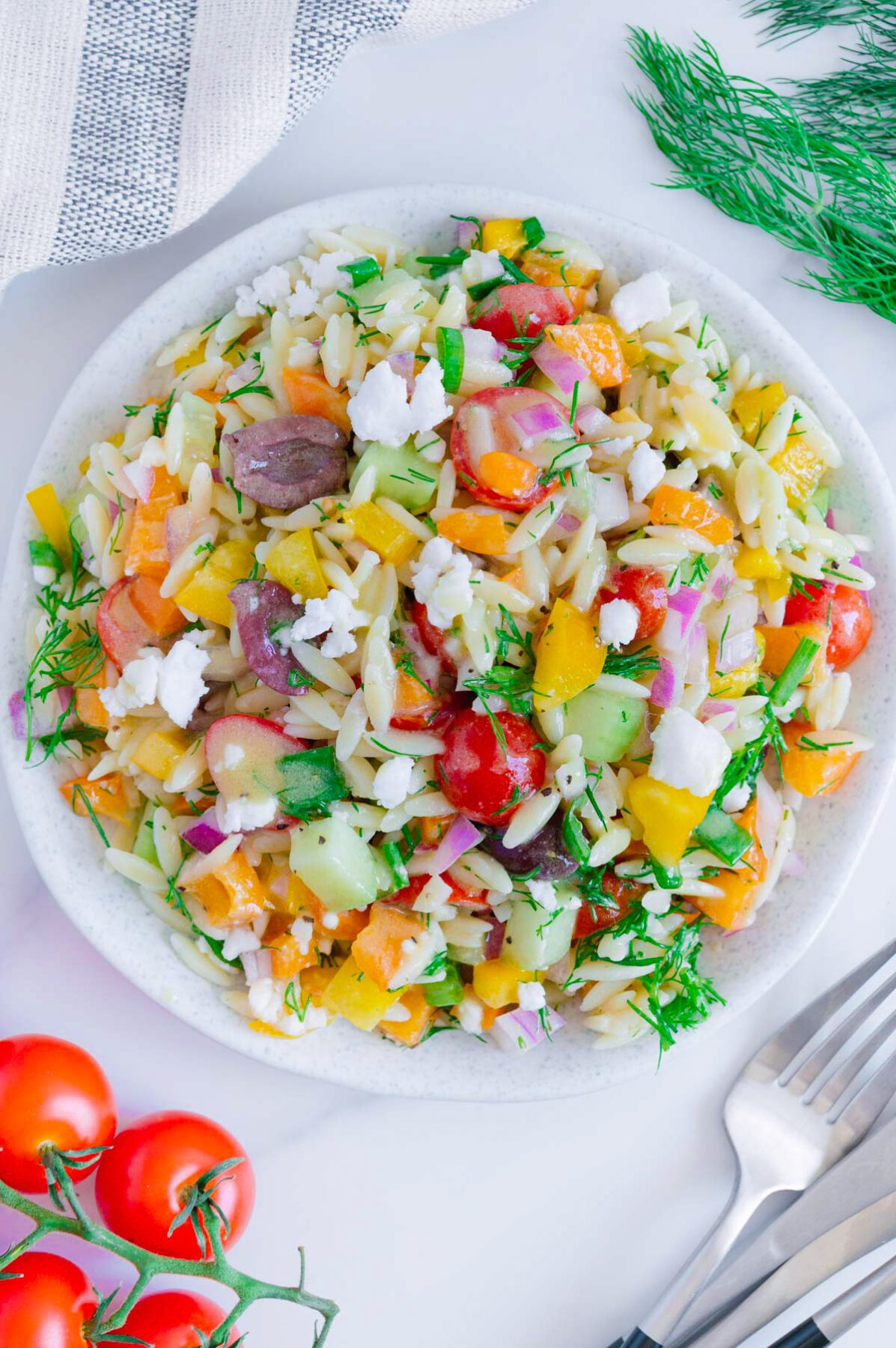 Vegan Greek Orzo Salad