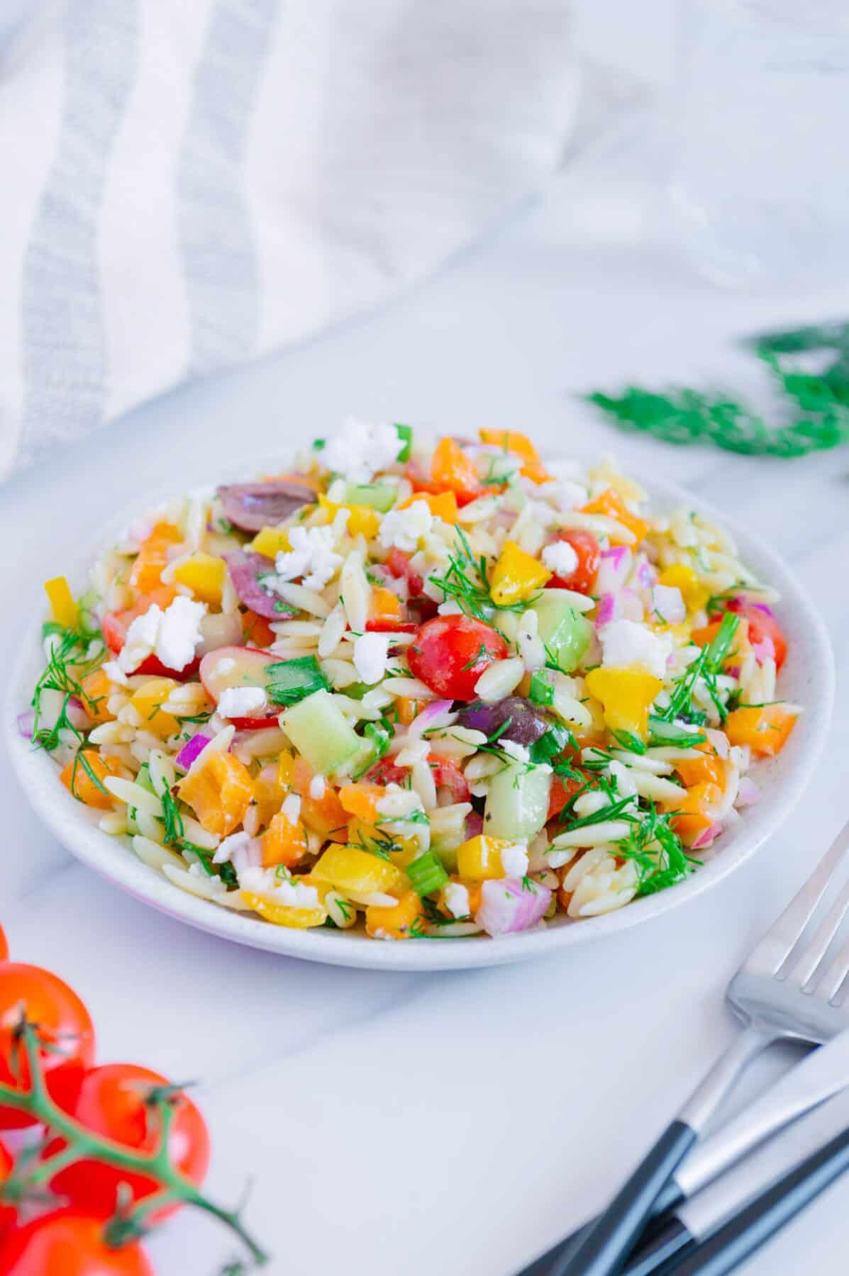 Gluten-Free Orzo Salad