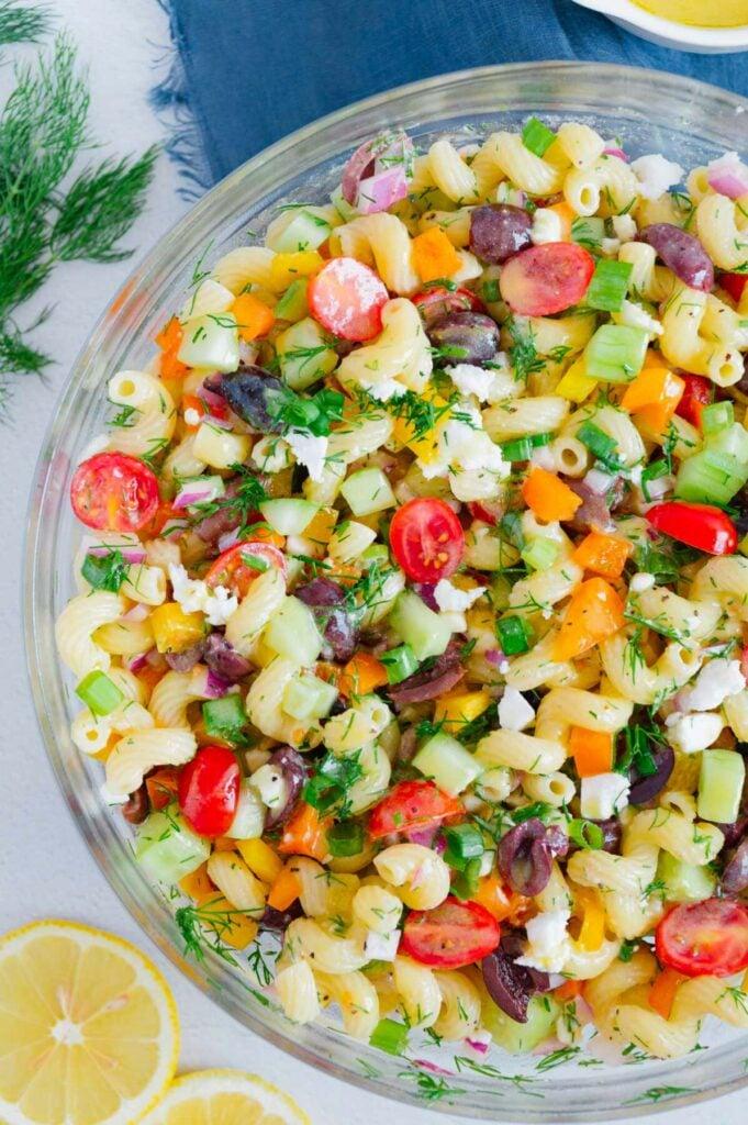 Best Vegan Greek Pasta Salad
