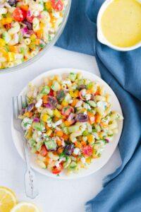 Best Greek Pasta Salad Vegan Gluten-Free