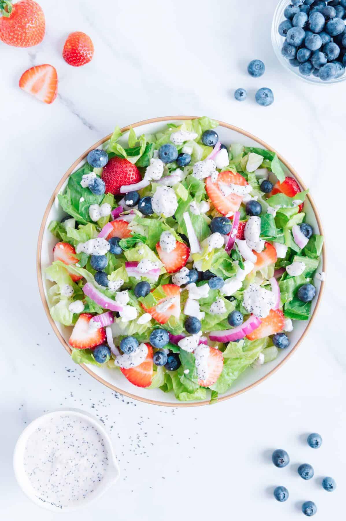 Vegan Strawberry Blueberry Salad