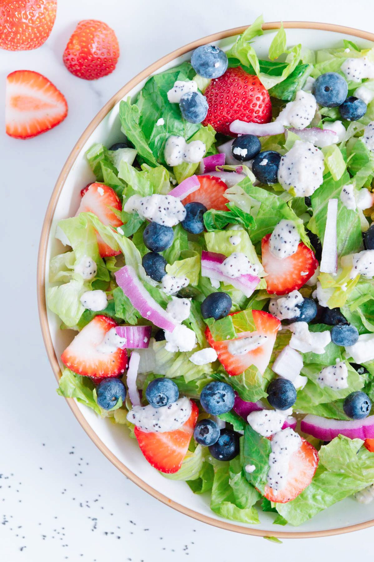 Vegan Red White and Blue Salad