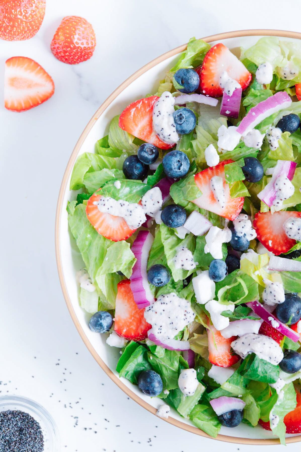 Easy Vegan Red White and Blue Salad