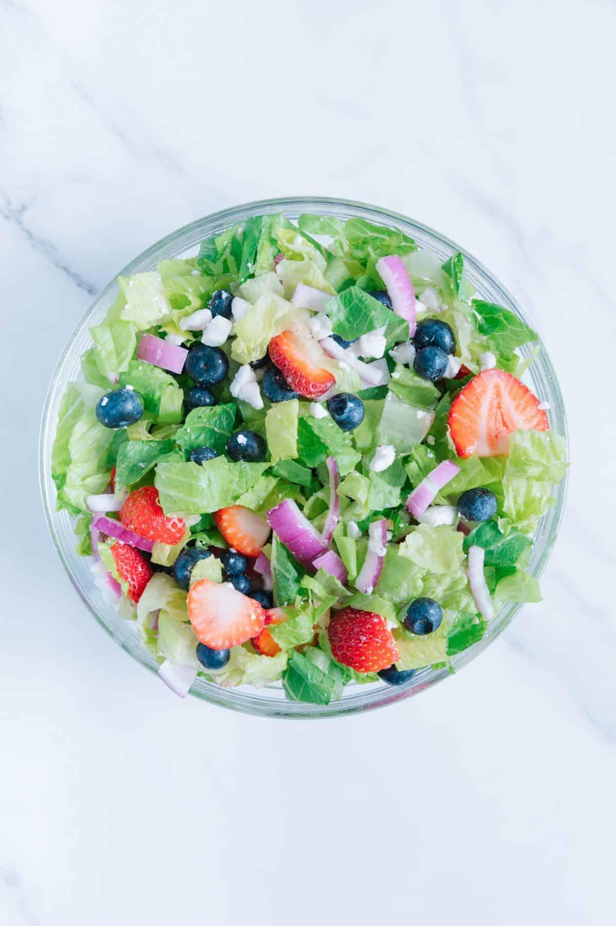 Vegan Blueberry Salad