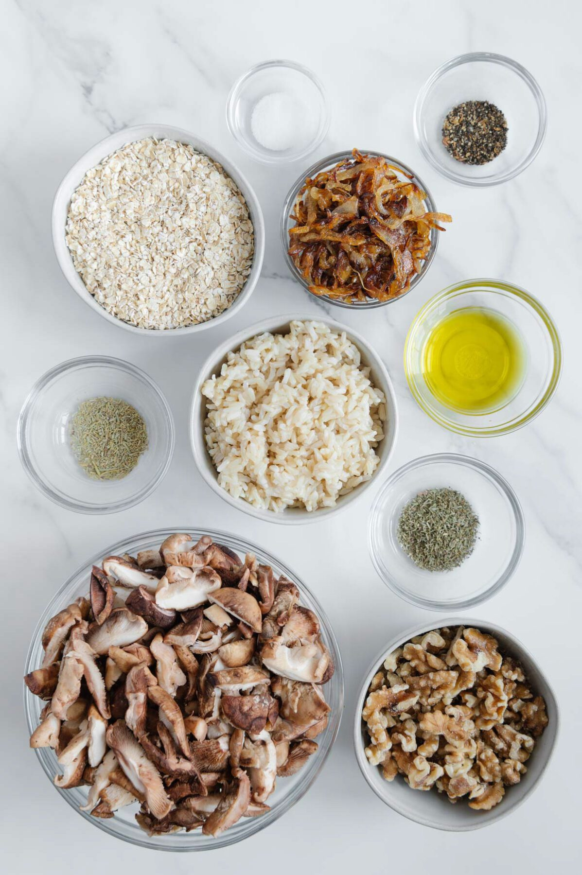 Mushroom-Walnut Balls Ingredients