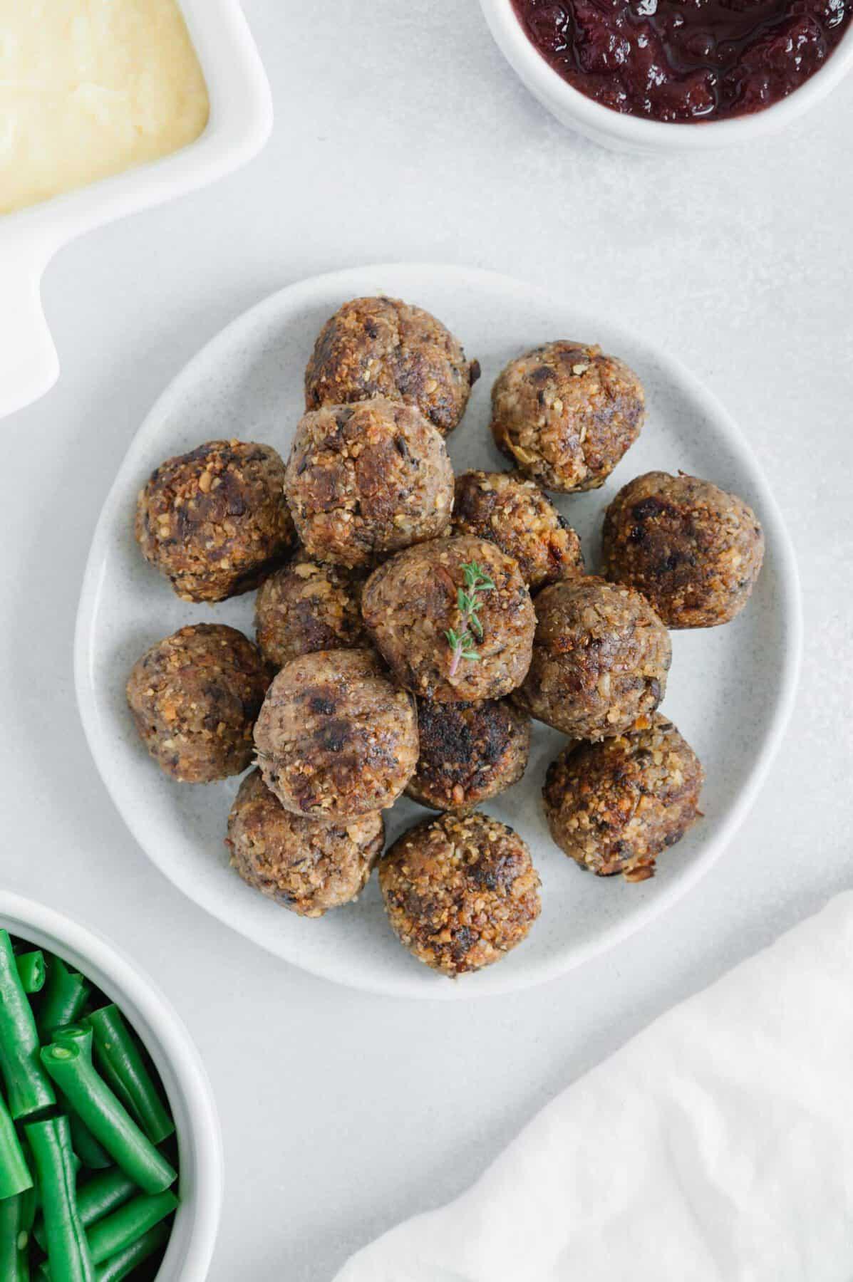 Mushroom-Walnut Balls