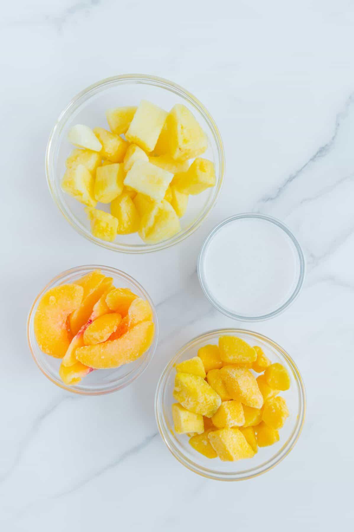 Easy Tropical Sorbet Ingredients
