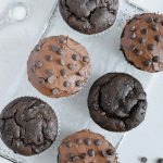 Frosted Vegan Chocolate Muffins