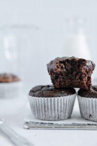 Vegan Chocolate Zucchini Muffins