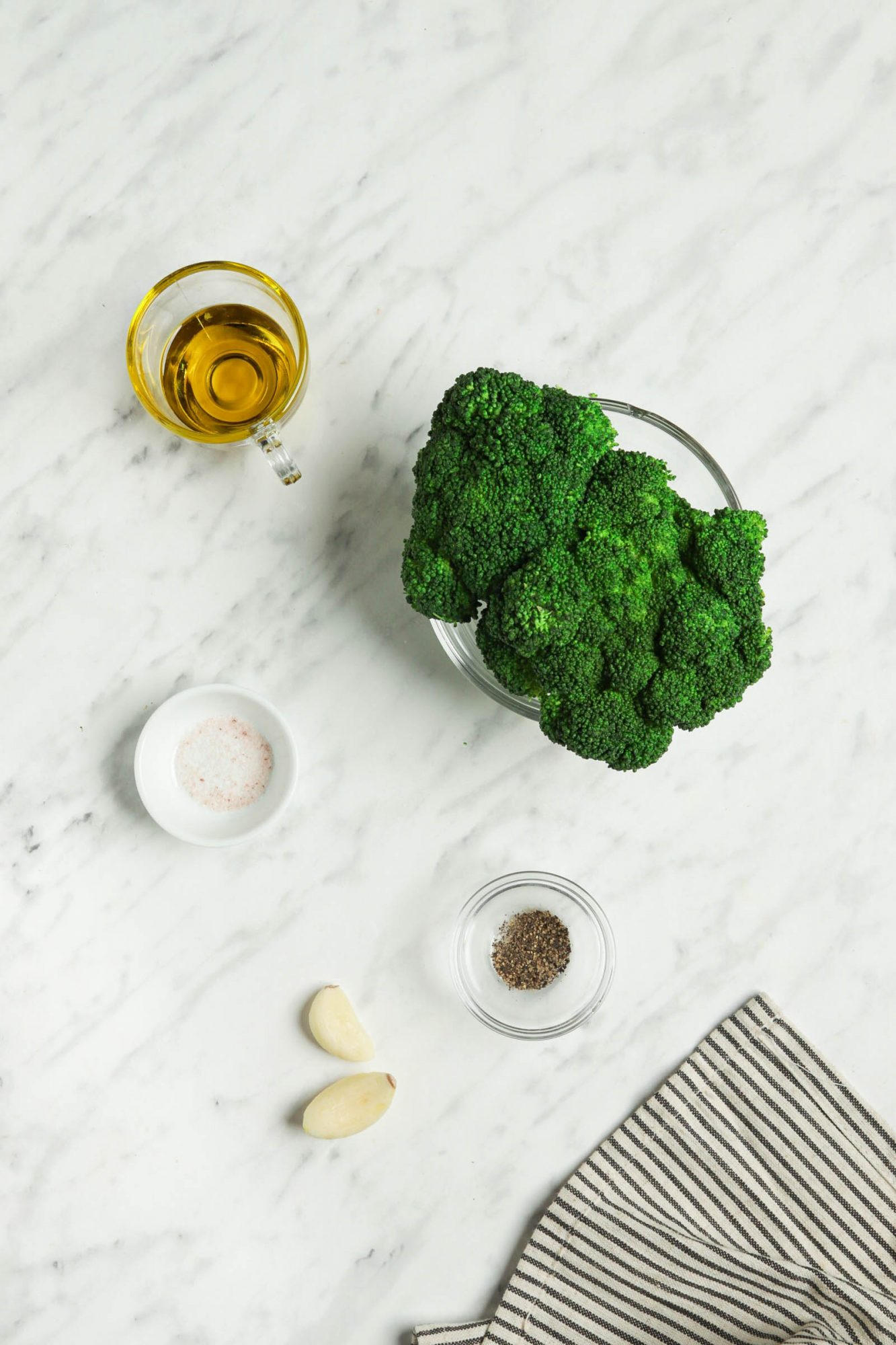 Sautéed Garlic Ingredients