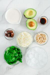 Avocado Vanilla Smoothie Ingredients