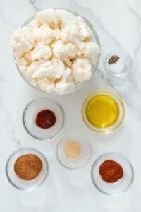 BBQ Cauliflower Ingredients