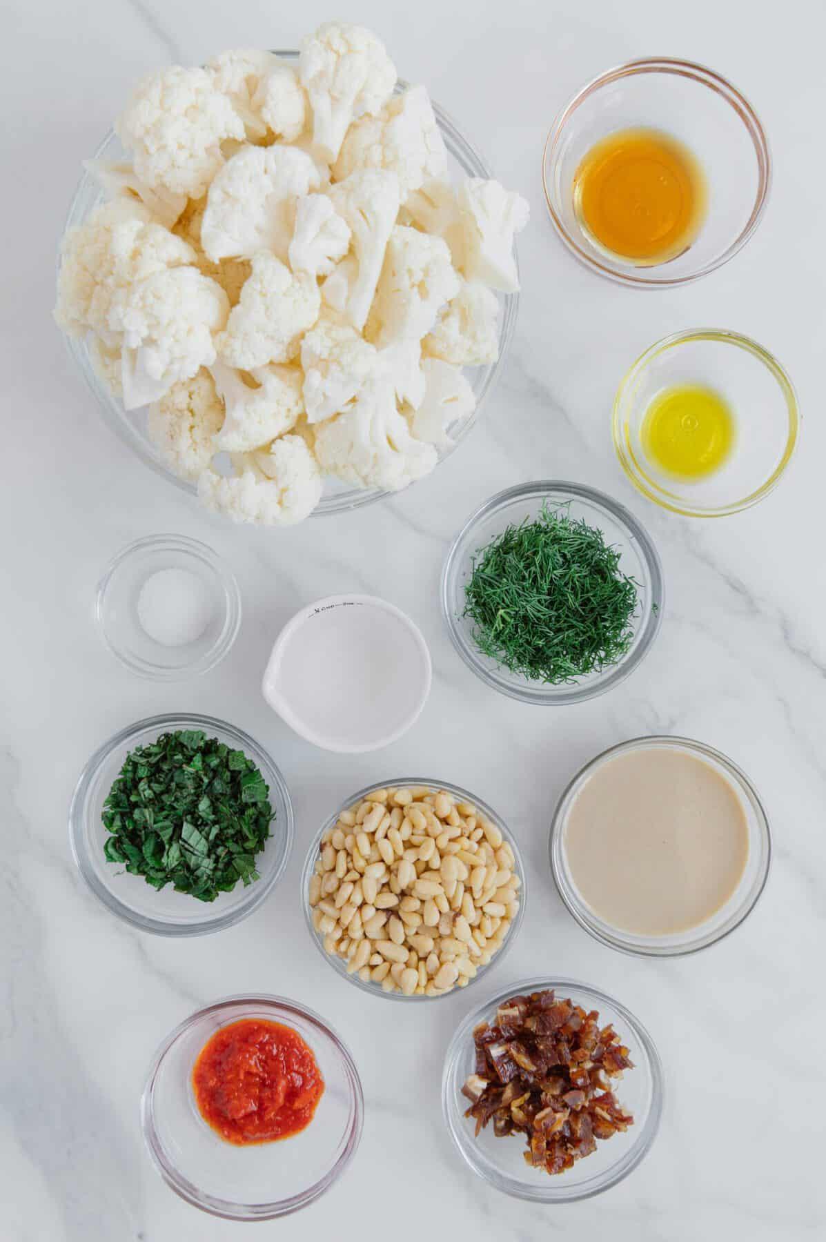 Crispy Cauliflower & Harissa Ingredients