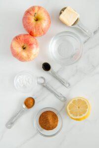 Sautéed Cinnamon Apple Ingredients