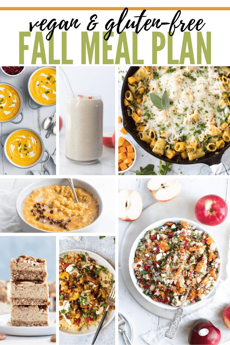 Vegan and Gluten-Free Fall Meal Plan