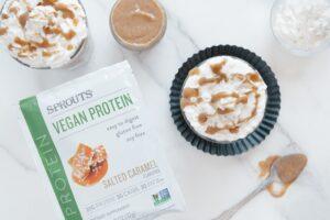 Vegan Salted Caramel Protein Powder Smoothie