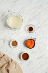 Ingredients in Homemade Pumpkin Milk