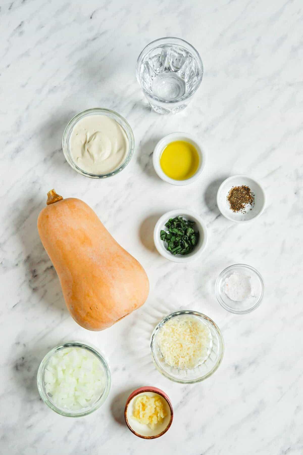 Vegan Butternut Squash Risotto Ingredients