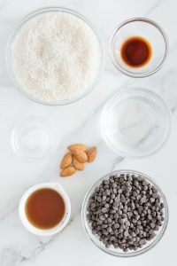 Ingredients in a Homemade Almond Joy