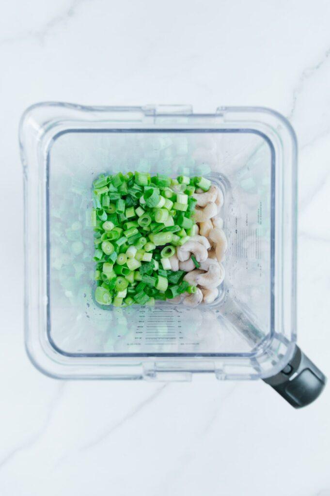 How to Make Green Onions Cashew Sauce