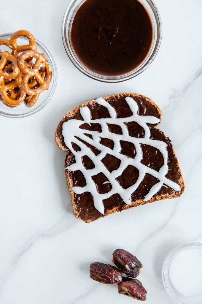 Vegan Spiderweb Toast