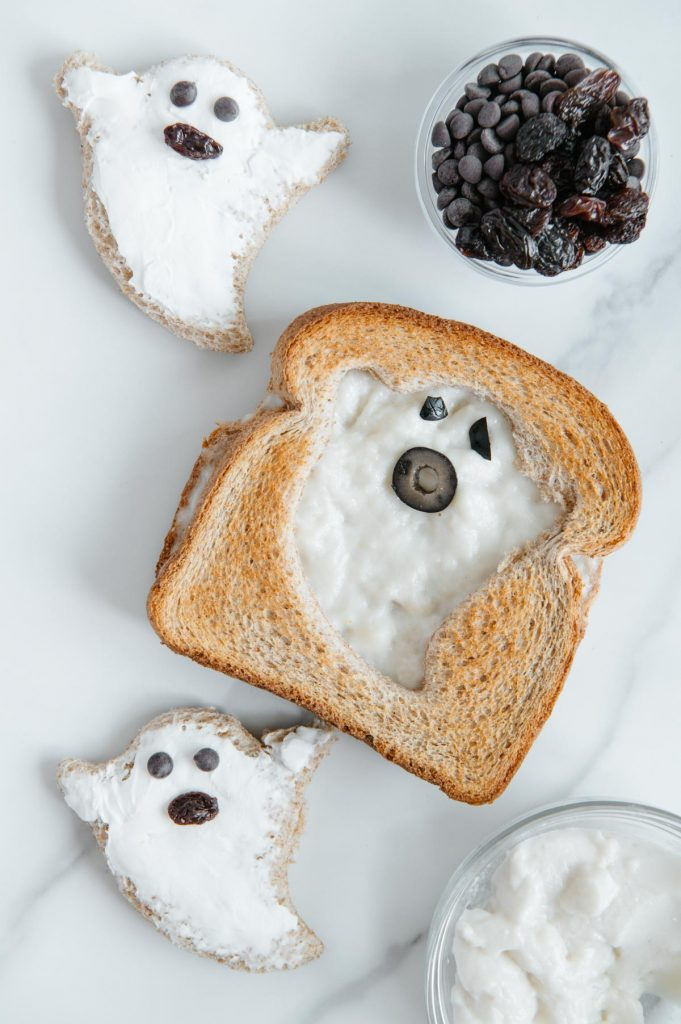 Vegan Grilled Cheese Ghosts