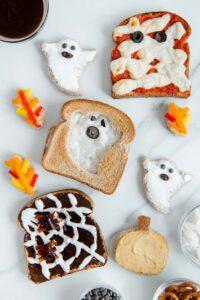 Vegan Ghost Halloween Toast