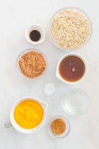 Chocolate Pumpkin Muffin Ingredients