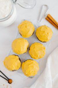 Gluten-Free Pumpkin Muffins with Vegan Frosting