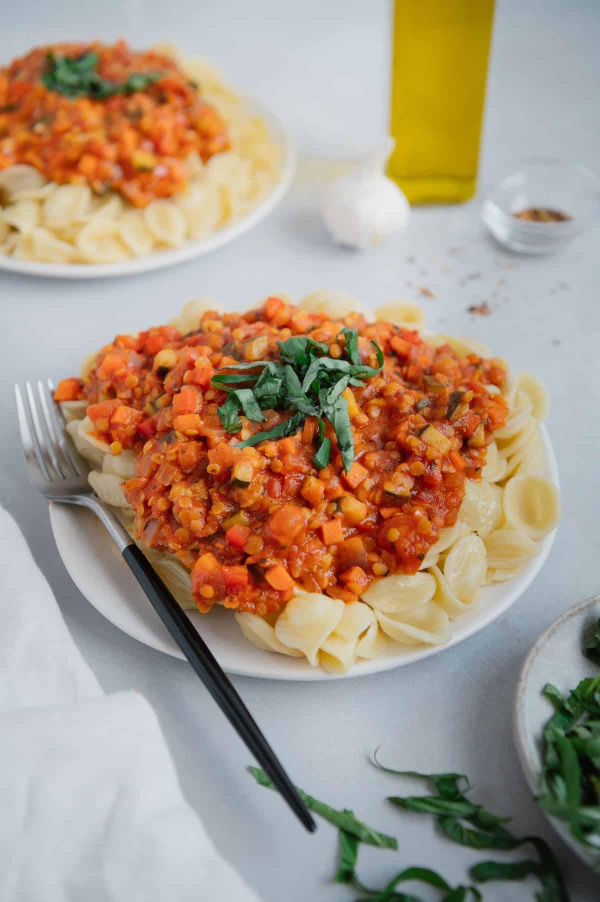 Spicy Lentil Pasta