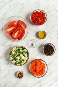 Roasted Veggie Sauce Ingredients