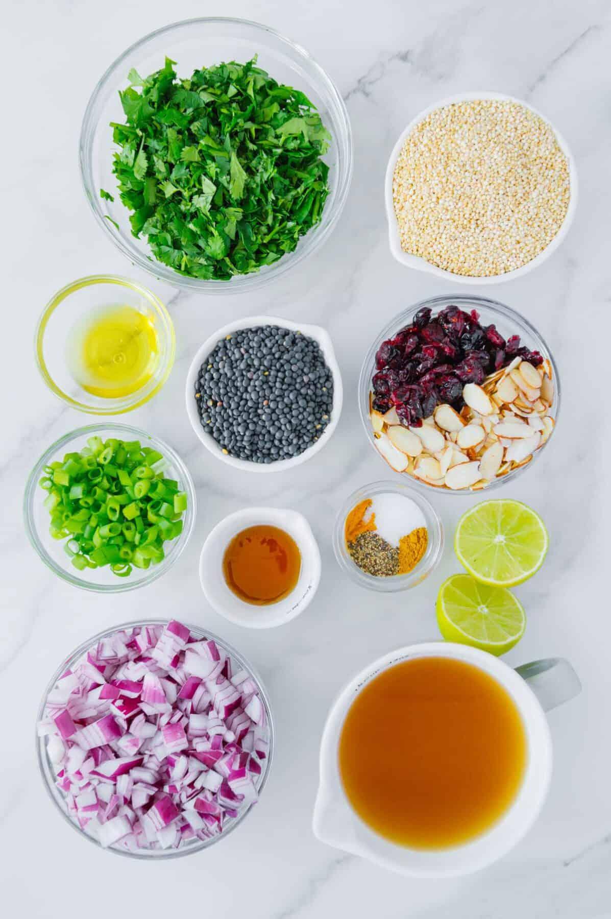 Spiced Lentil Quinoa Salad