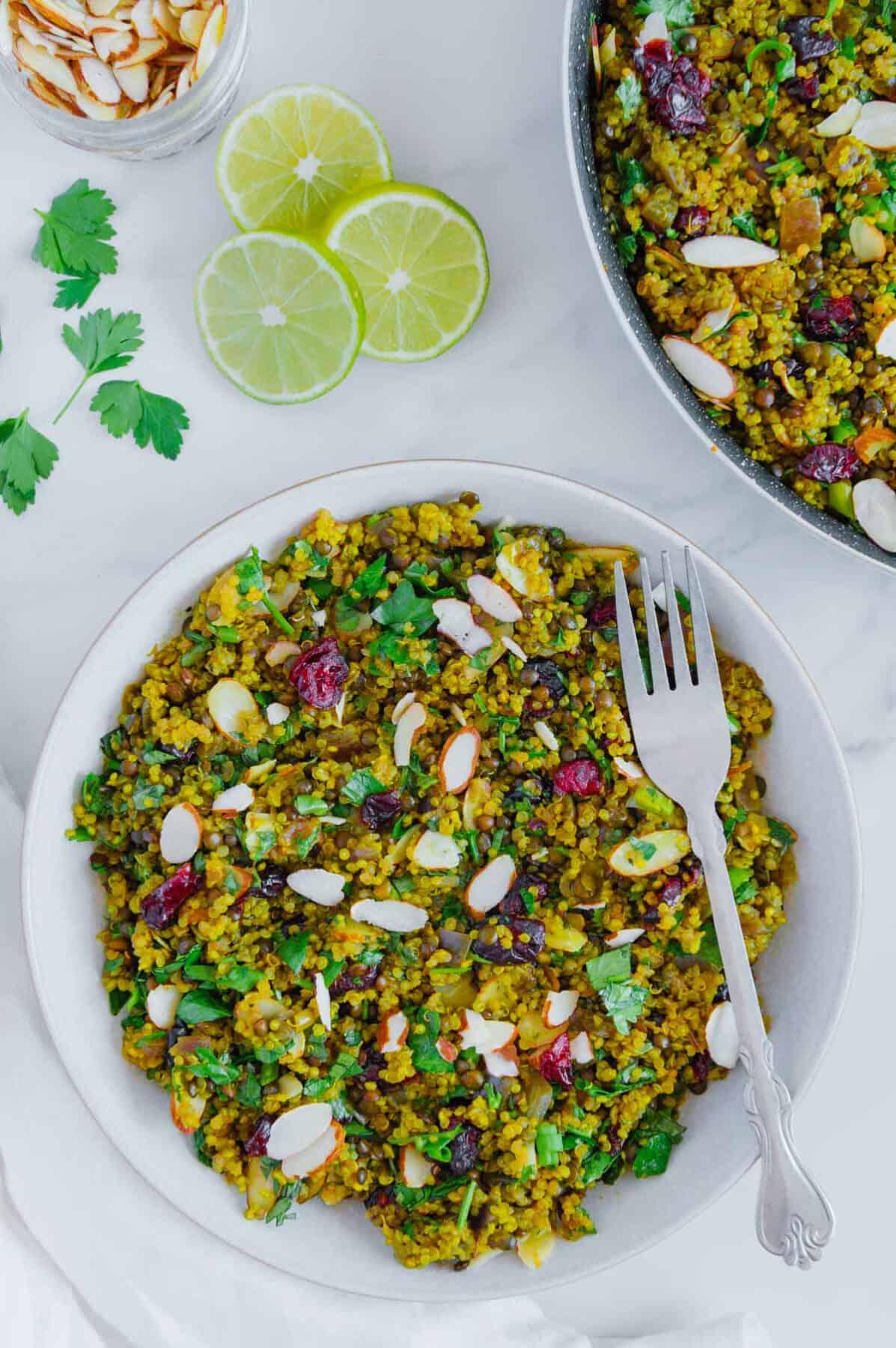 Vegan Quinoa Lentil Salad