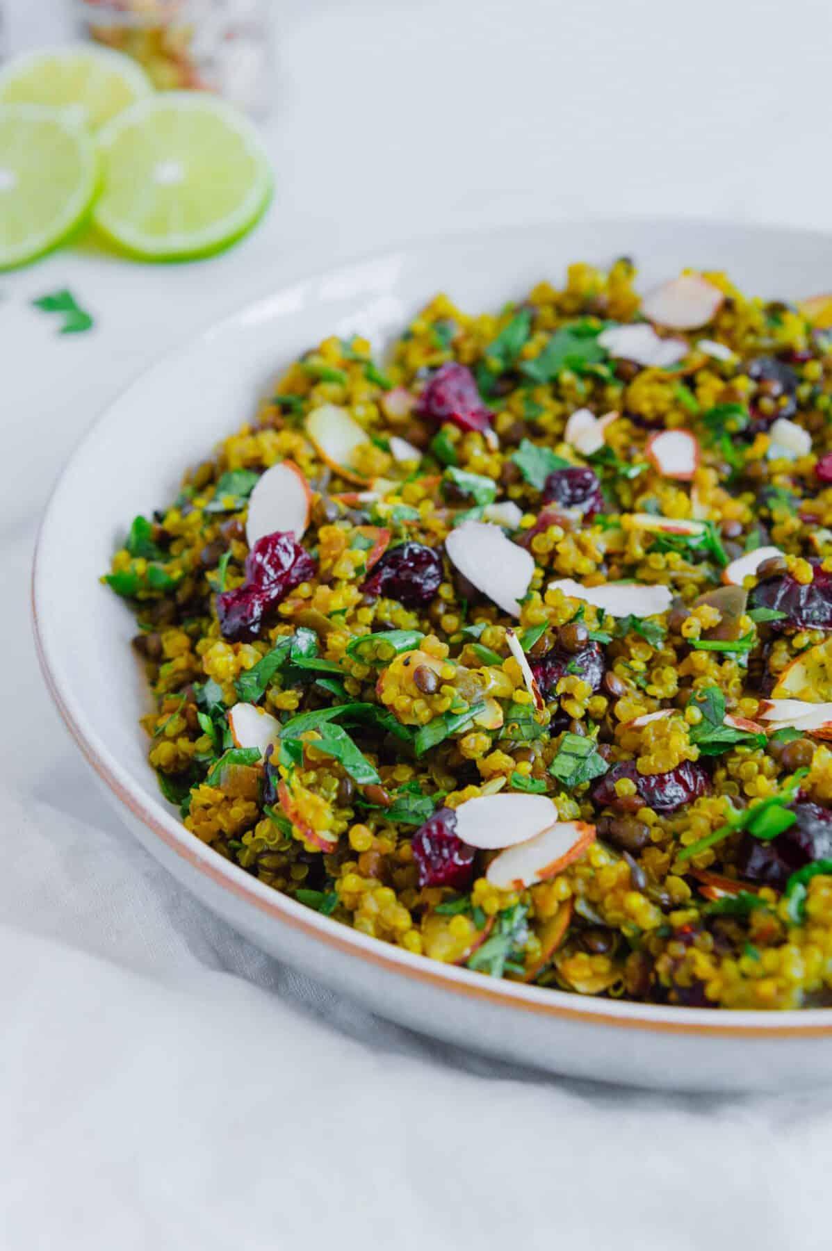 Easy Quinoa Lentil Salad