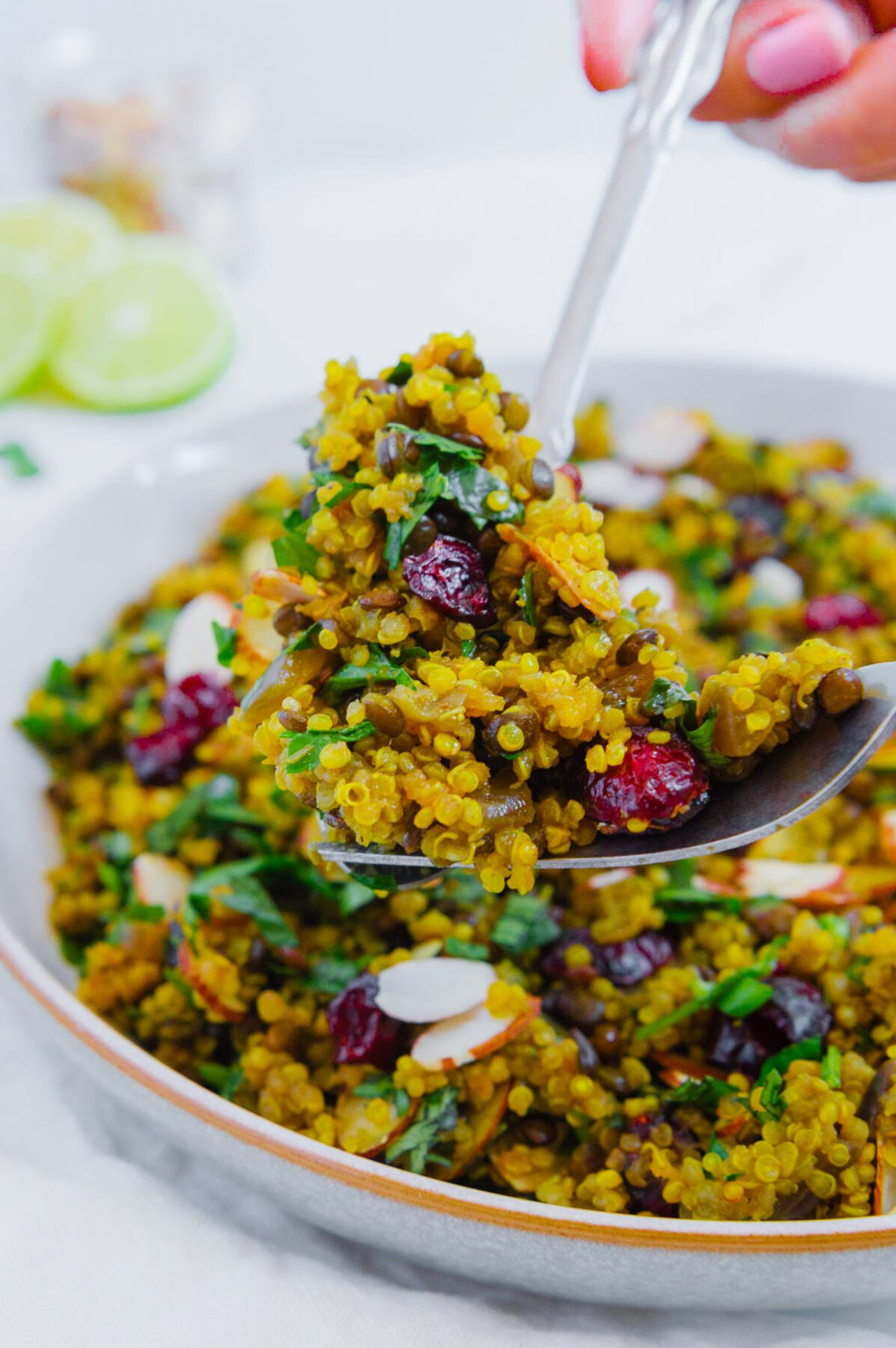 Sweet and Spiced Quinoa Lentil Salad