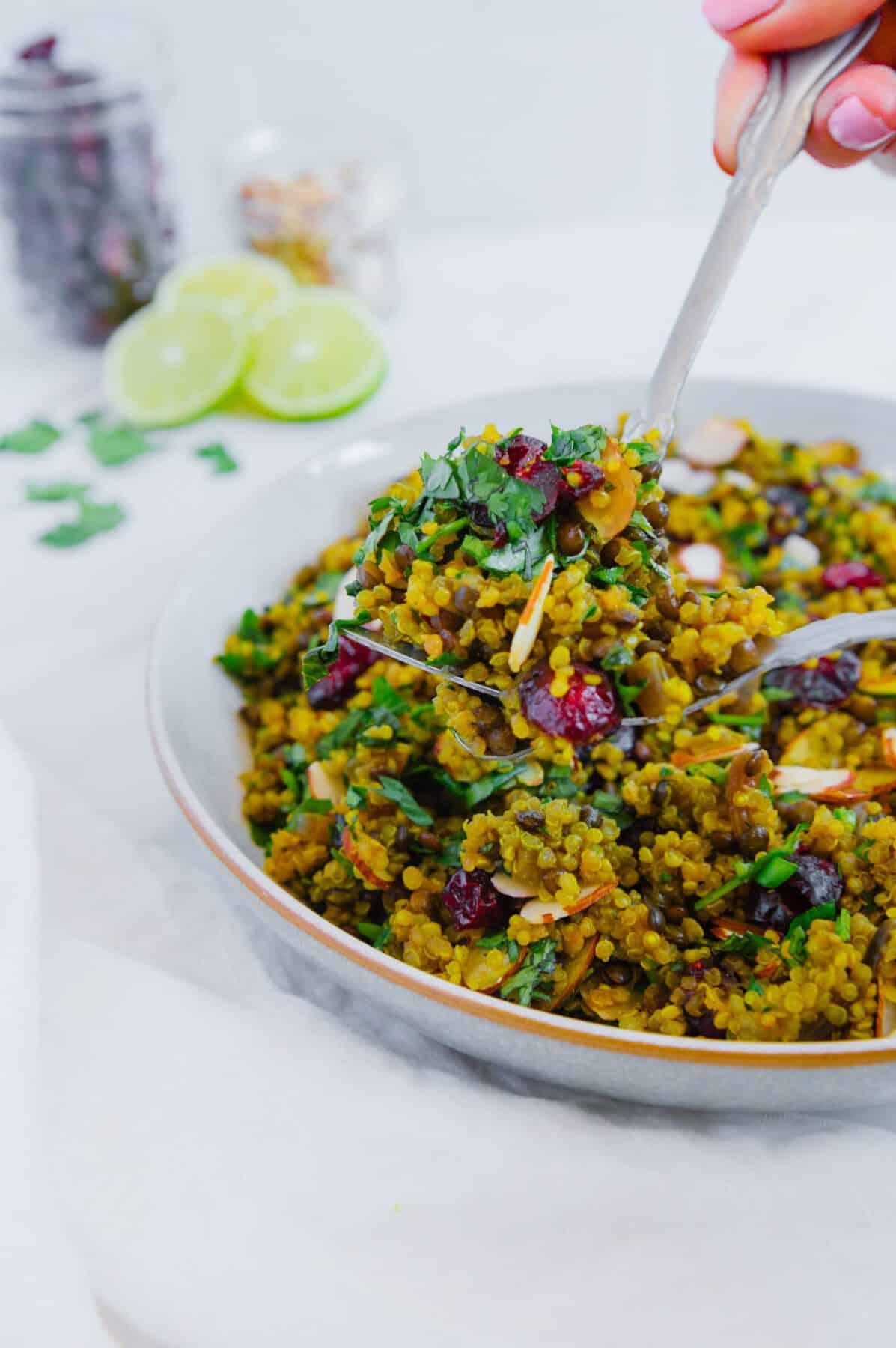 Weeknight Quinoa Lentil Salad