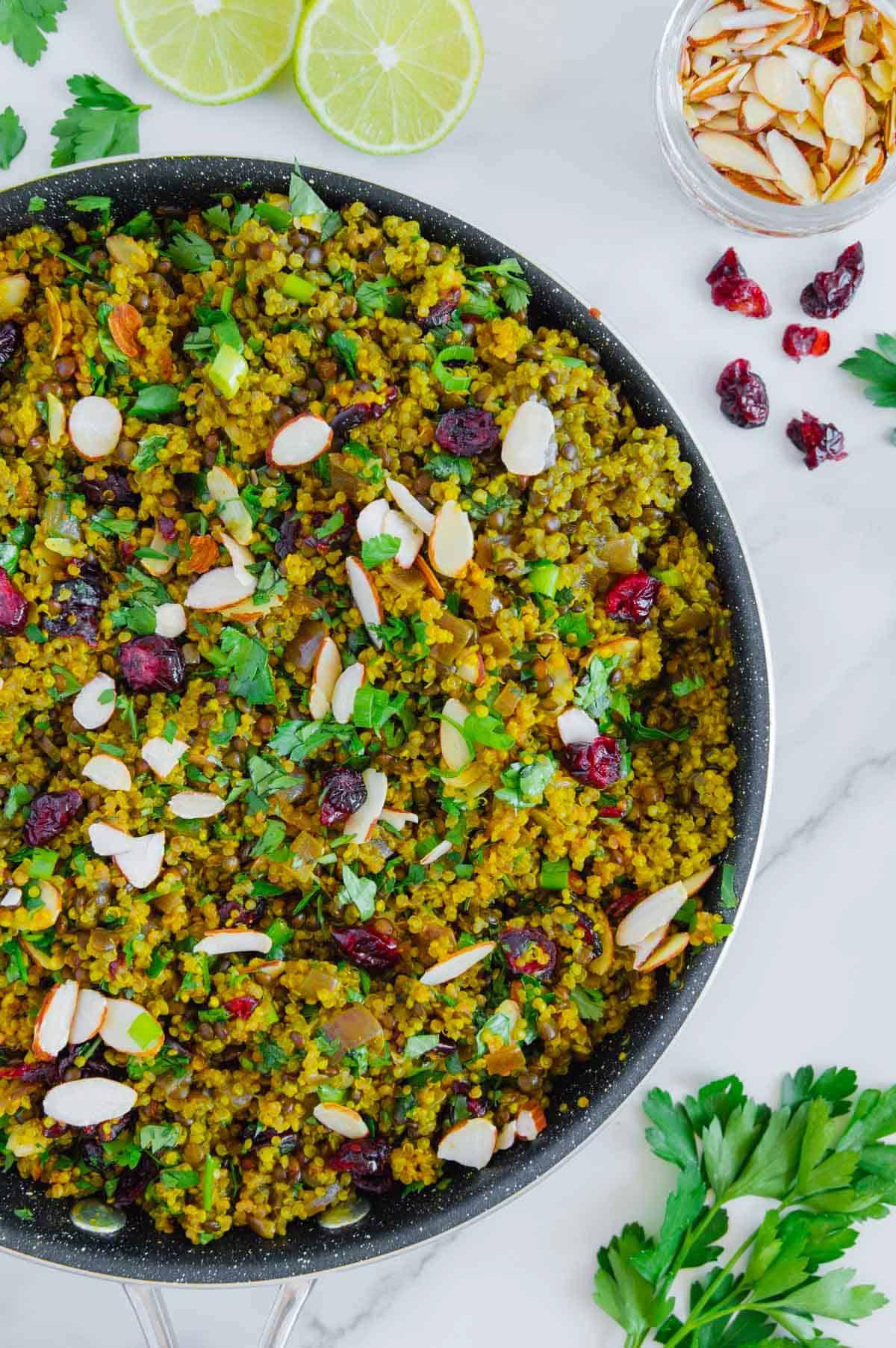 One-Pot Quinoa Lentil Salad